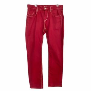 Robert Graham Slim Jim 5-Pocket Red Cotton Pants